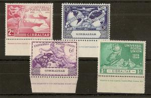 Gibraltar 1949 UPU Imprints Mint