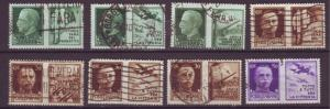 J16988 JLstamps various 1942 italy WWII used military scenes #