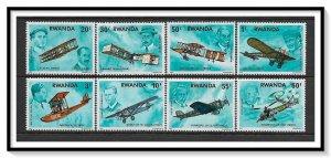 Rwanda #885-892 Wright Brothers Set MNH