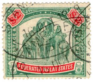 (I.B) Federated Malay States Revenue : Duty Stamp $2