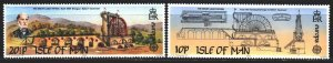 Isle Of Man. 1983. 240-41. Engineer, human achievement, europe-sept. MNH.