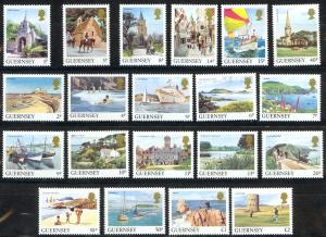 Guernsey Sc# 283-302 MNH 1984-1985 Places in Guernsey