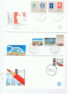 NETHERLANDS 1977  FDC's