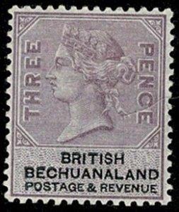 BECHUANALAND QV 1888 3d LILAC & BLACK SG12 MH Wmk.w48 P.14 VGC