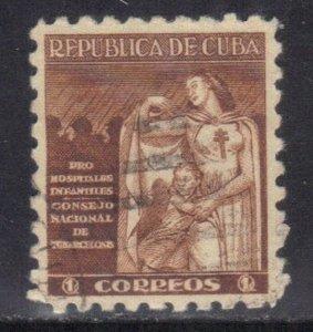 CUBA SC# RA8  **USED** 1943  1c   OVERPRINT   SEE SCAN