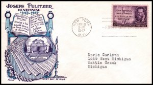 US 946 Pulitzer Fleetwood Dorthy Knapp Typed FDC