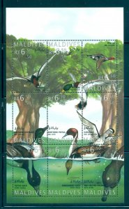Birds - Maldive Is. - Sc# 2038. 1995 Ducks MNH Souv. Sheet. $11.50.