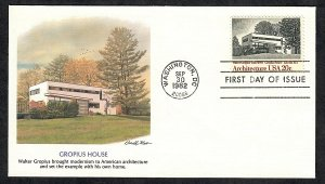 2021 American Architecture Unaddressed Fleetwood FDC