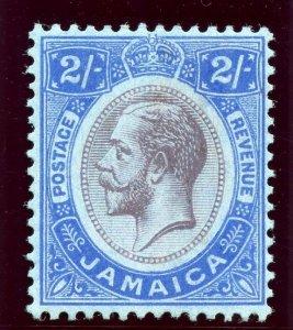 Jamaica 1919 KGV 2s purple & bright blue/blue MLH. SG 66. Sc 69.