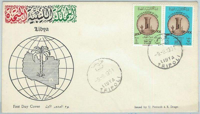 67017 - LIBYA - Postal History -  FDC Cover 1961 -  Army Day - MILITARY War