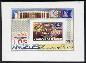 Lesotho 1984 Los Angeles Olympic unmounted mint imperf m/...