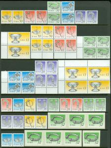 EDW1949SELL : IRELAND 1990-95 Sc #767//93 Diff. values Cplt as issued VF Mint NH