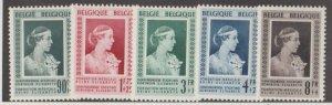 Belgium Scott #B498-B502 Stamps - Mint Set
