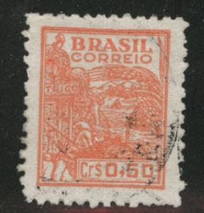 Brazil Scott 661A Used 1947 stamp Salmon color