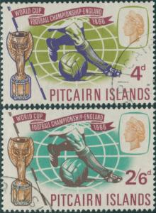 Pitcairn Islands 1966 SG57-58 World Cup football set FU
