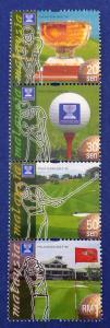 Malaysia Scott # 758-761 World Cup Golf Stamp Set MNH