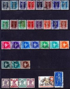 India - A selection of unchecked FU stamps