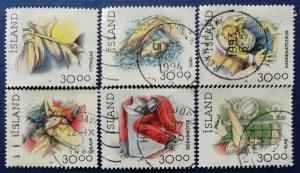 Iceland Sports Stamps Scott # 708-711B Used (I693)