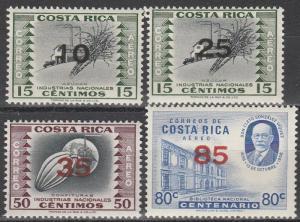 Costa Rica #C334-7  MNH (S2228L)