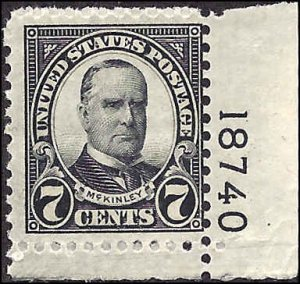 639 Mint,OG,NH... SCV $3.20... Plate# Single