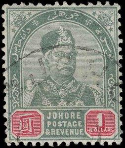 Malaya / Johore Scott 18-24 Gibbons 21-27 Used Set of Stamps