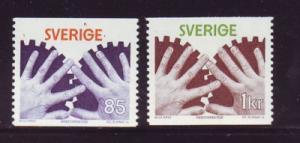 Sweden Sc 1183-4 1976 Industrial Safety stamp set mint NH