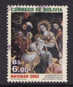 Bolivia   #1203  used   2002  Christmas  6b