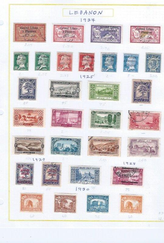 LEBANON USED  SCV $57.00 1924-1930 STARTS @20% OF CAT VALUE