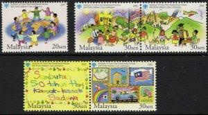 MALAYSIA SG1172/6 2003 50th WORLD CHILDRENS DAY MNH