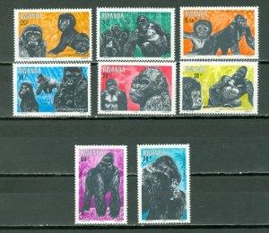 RWANDA 1983 GORILLAS #1158-65...SET...MNH...$11.00