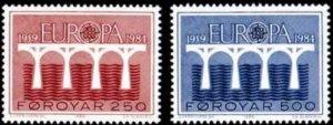 Faroe Islands #106-107 Fa99-100 MNH CV$2.00 Europa