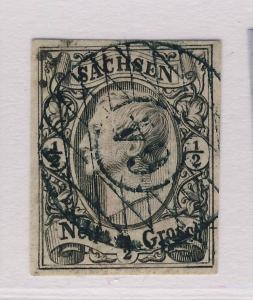 SAXONY / SACHSEN - 1855/6 NUMERAL 64 EISENBERG ON MiNr.8 SUPERB