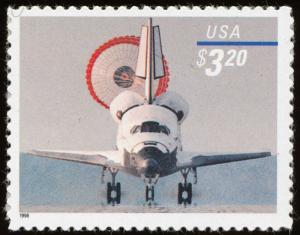 US Stamp 1998 $3.20 Space Shuttle Landing Stamp #3261