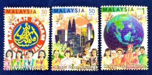 Malaysia Scott # 782-4 Unit Trust Investment Week Stamps Set MNH