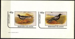 {B188} Bernera Scotland Birds (3) Sh.2 Imperf. MNH Cinderella !!