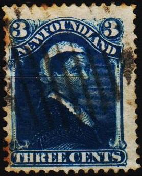 Newfoundland. 1880 3c  S.G.47a Fine Used