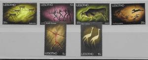 Lesotho 60-6 1968 Rock Paintings set NH