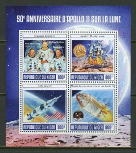 NIGER 2019 50th ANNIVERSARY OF APOLLO 11 ON THE MOON SHEET MINT NH