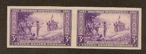 755 Unused, XF, 3c. Wisconson/Farley  Pair,  scv: $1.20
