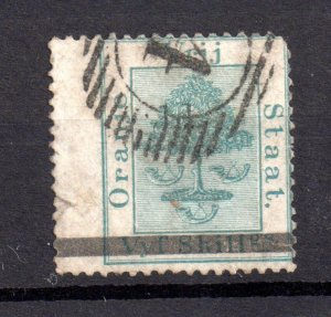 Orange Free State 1d Surcharge Wing Margin SG23 fine used Cat Val £85 WS20539