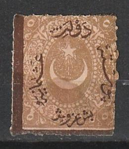 #28 Turkey Mint OGH overprint