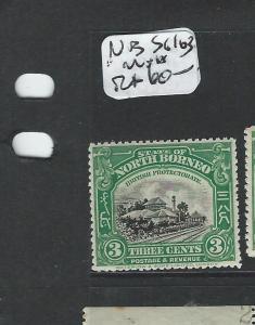 NORTH BORNEO (P1706B) 3C TRAIN SG163  MNH