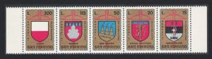 San Marino 9th Crossbow Tournament San Marino Arms 5v Strip SG#1005-1009