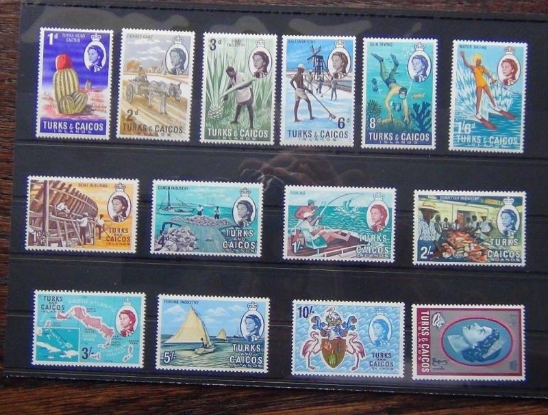 Turks and Caicos Islands 1967 set complete to £1 LMM SG274 - SG2287