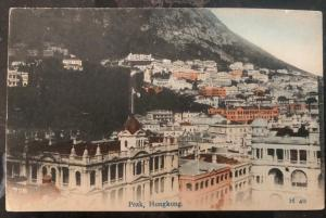 1919 Hong Kong Picture Postcard Cover To Catholic Mission Daegu Korea Peak View
