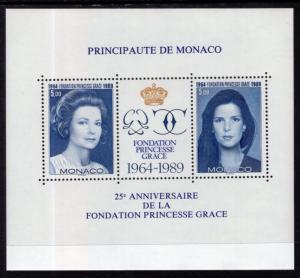 Monaco 1697 Princess Grace Souvenir Sheet MNH VF