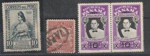 Peru & Panama Mint & Used lot #200102-9
