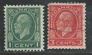 Canada #195,197  used  1932   PD