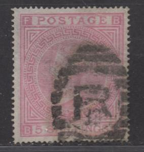 **Great Britain, SC# 57, MLH, VF, SMudge Cxl, Color Faded, Plate 2