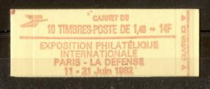 France 1982 Expo 14fr Booklet
